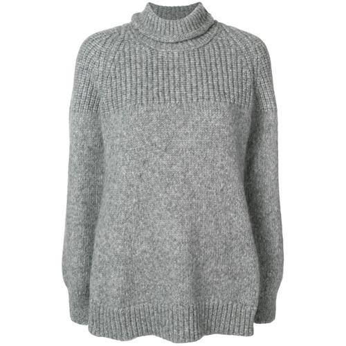 Jersey de cuello alto de punto gris de Dondup