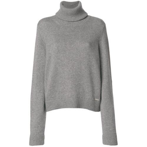 Jersey de cuello alto de punto gris de Dsquared2