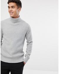 Jersey de cuello alto de punto gris de Jack & Jones