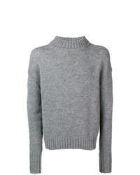 Jersey de cuello alto de punto gris de Jil Sander