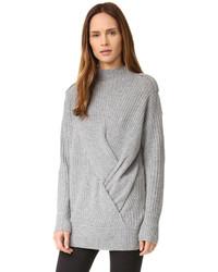 Jersey de cuello alto de punto gris de Rag & Bone