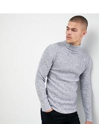 Jersey de cuello alto de punto gris de Siksilk