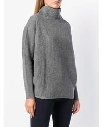 Jersey de cuello alto de punto gris de Peserico