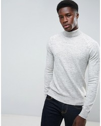 Jersey de cuello alto de punto gris de Threadbare