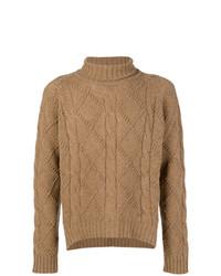 Jersey de cuello alto de punto marrón claro de Jil Sander