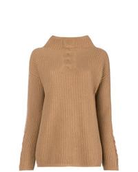 d5fc2cd3096 Comprar un jersey de cuello alto de punto marrón claro  elegir ...