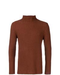 Jersey de cuello alto de punto marrón de Federico Curradi