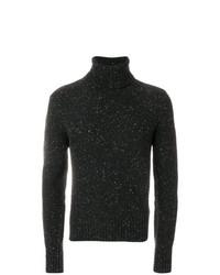 Jersey de cuello alto de punto negro de AMI Alexandre Mattiussi