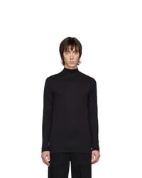 Jersey de cuello alto de punto negro de Lemaire