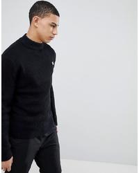 Jersey de cuello alto de punto negro de Soul Star