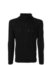 Jersey de cuello alto de punto negro de Tagliatore