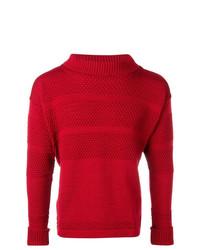Jersey de cuello alto de punto rojo de S.N.S. Herning