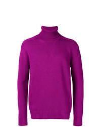 Jersey de cuello alto de punto rosa de Laneus