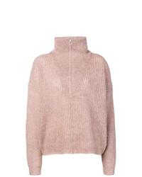 Jersey de cuello alto de punto rosado de Isabel Marant Etoile