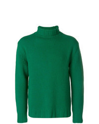 Jersey de cuello alto de punto verde