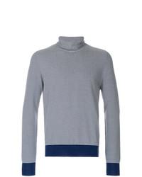 Jersey de Cuello Alto de Rayas Horizontales Azul Marino y Blanco de Maison Margiela