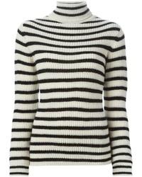 Jersey de cuello alto de rayas horizontales en blanco y negro de IRO