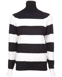 Jersey de cuello alto de rayas horizontales en blanco y negro de Stella McCartney