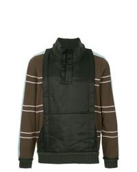 Jersey de cuello alto de rayas horizontales en marrón oscuro de Craig Green