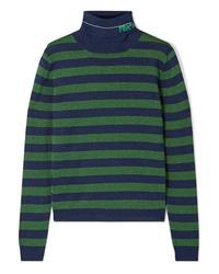 Jersey de cuello alto de rayas horizontales en multicolor de Prada