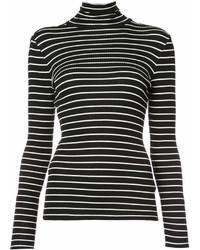 Jersey de cuello alto de rayas horizontales en negro y blanco de Derek Lam