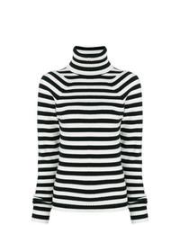 Jersey de cuello alto de rayas horizontales en negro y blanco de Haider Ackermann