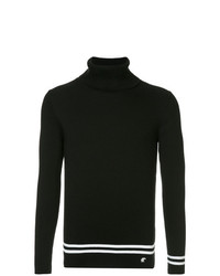 Jersey de cuello alto de rayas horizontales en negro y blanco de Loveless
