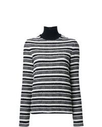 Jersey de cuello alto de rayas horizontales en negro y blanco de Martin Grant