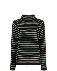 Jersey de cuello alto de rayas horizontales en negro y blanco de Phisique Du Role