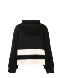 Jersey de cuello alto de rayas horizontales en negro y blanco de Pierantoniogaspari