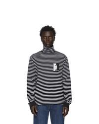 Jersey de cuello alto de rayas horizontales en negro y blanco de Vyner Articles