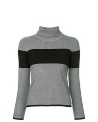 Jersey de cuello alto de rayas horizontales gris de GUILD PRIME