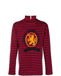 Jersey de cuello alto de rayas horizontales rojo de Hilfiger Collection