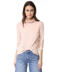 Jersey de cuello alto de rayas horizontales rosado de Madewell