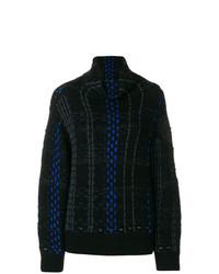 Jersey de cuello alto de rayas verticales negro de Rag & Bone