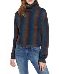 Jersey de cuello alto efecto teñido anudado en multicolor
