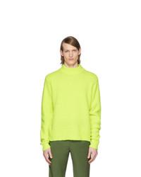 Jersey de cuello alto en amarillo verdoso de Tibi