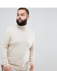Jersey de cuello alto en beige de ASOS DESIGN