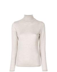 Jersey de cuello alto en beige de Le Tricot Perugia