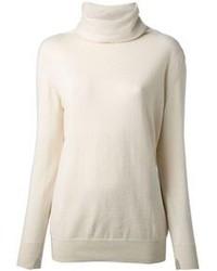 Jersey de cuello alto en beige de Loro Piana