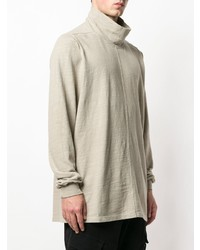Jersey de cuello alto en beige de Rick Owens DRKSHDW