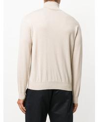 Jersey de cuello alto en beige de Canali
