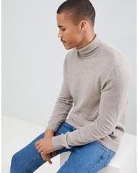 Jersey de cuello alto en beige de United Colors of Benetton