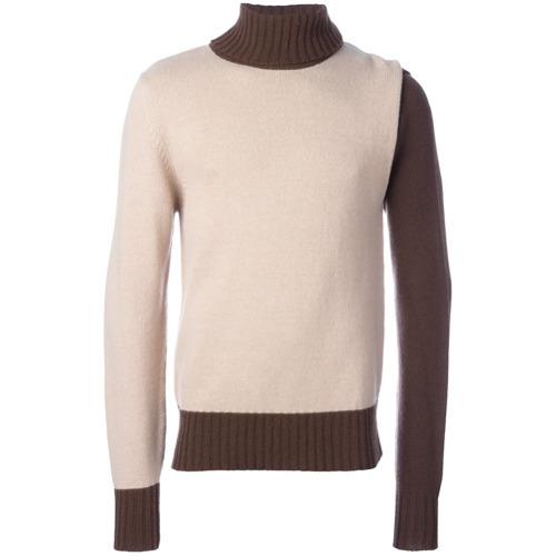 Jersey de cuello alto en beige de Walter Van Beirendonck Vintage