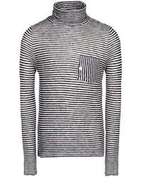 Jersey de cuello alto en blanco y negro