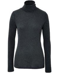 Jersey de cuello alto en gris oscuro