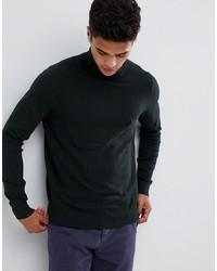 Jersey de cuello alto en gris oscuro de Burton Menswear