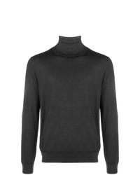 Jersey de cuello alto en gris oscuro de Canali