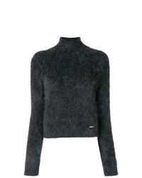 Jersey de cuello alto en gris oscuro de Dsquared2