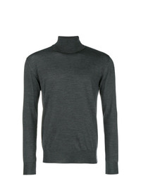 Jersey de cuello alto en gris oscuro de Eleventy